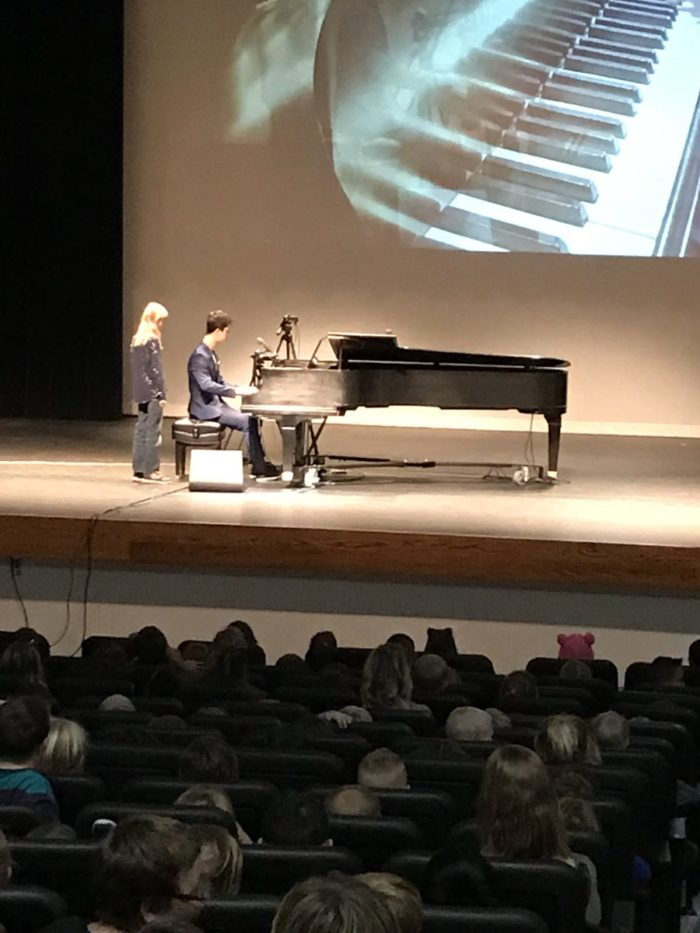 Ethan Bortnick Performs for Elementary Students