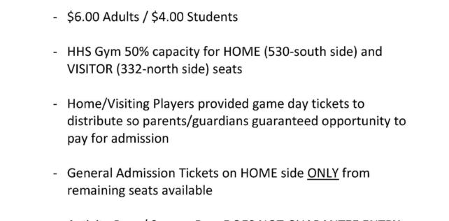 High School Volleyball Ticket System