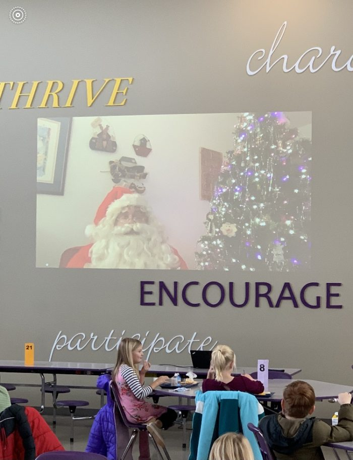 Santa Reads to Holdrege Elementary Students