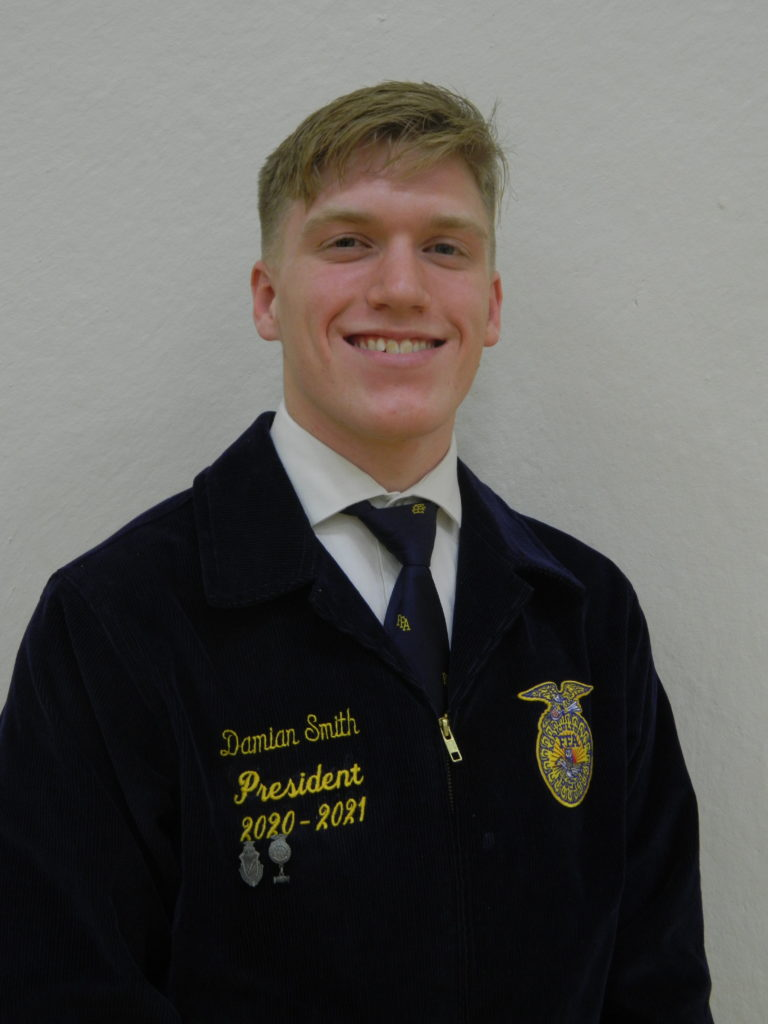 State Degree Recipient and State Proficiency Winner - Damian Smith